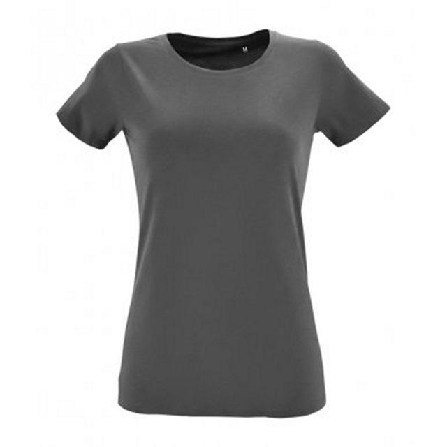SOL Sols - T-shirt Regent - Femme S, Anthracite Utpc2921