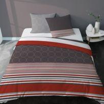 housse de couette rouge et gris catalogue 2019 rueducommerce carrefour. Black Bedroom Furniture Sets. Home Design Ideas
