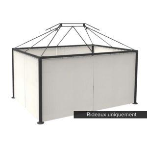 hesperide jeu de 4 rideaux pour tonnelle napoli 3 x 4 m sable pas cher achat vente pergola. Black Bedroom Furniture Sets. Home Design Ideas