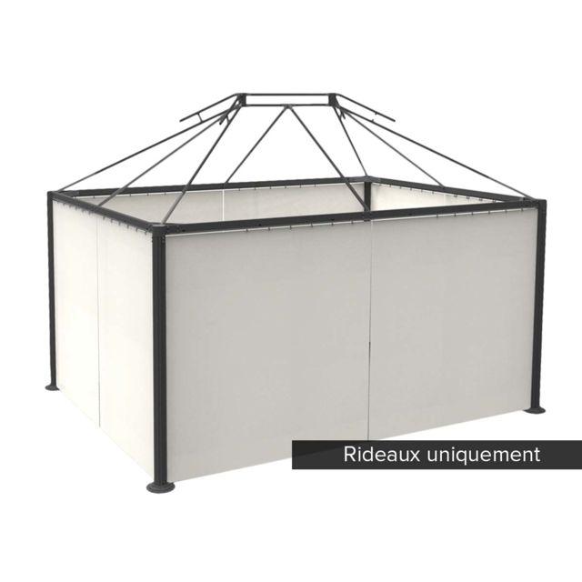 hesperide jeu de 4 rideaux pour tonnelle napoli 3 x 4 m. Black Bedroom Furniture Sets. Home Design Ideas