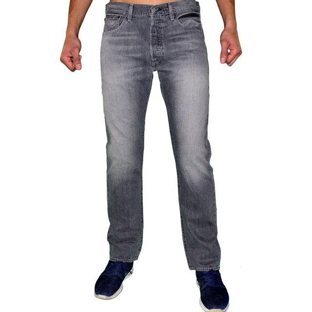 Levi S - Levis - Jean - Homme - 501 Original - Elephant Grey - Gris Noir e4289c51a341