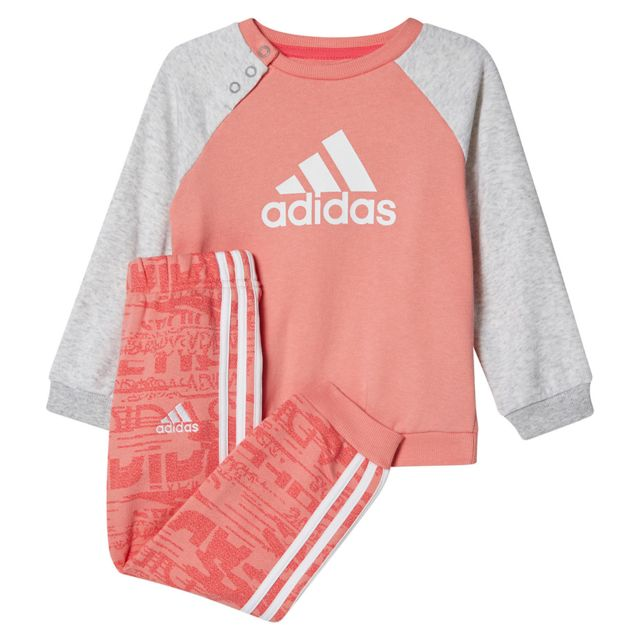 818b61e3392bf Adidas - Adidas French Terry Survêtement Bébé Fille - Taille 3 4 ans - Rose