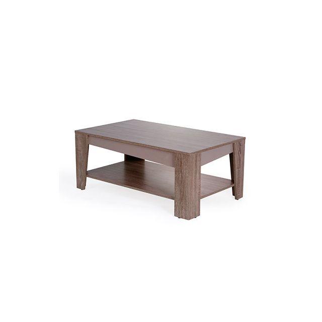 Table basse 100x42x60cm chène grisé