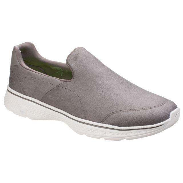 Go Walk 4 Expert Chaussures sans lacets Homme 41 Eu, Kaki Utfs4250
