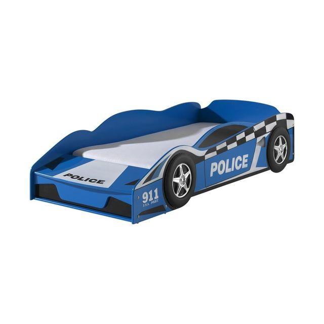 Vipack Funbeds Lit junior voiture de police