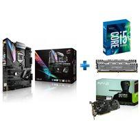 ASUS - Carte mère STRIX Z270E GAMING Socket 1151 - Chipset Z270 Kabylake + Processeur Intel Core i5-7600K 3.80GHz LGA1151 - KABYLAKE + Ballistix Sport LT 16 Go 2 x 8 Go DDR4 - 2400 Mhz - CAS 16 + GeForce GTX 1060 EX OC 6GB