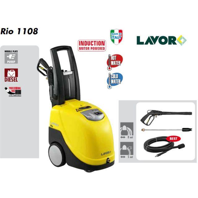 lavor nettoyeur haute pression eau chaude 145 bars 450l h 1108 pas cher achat vente