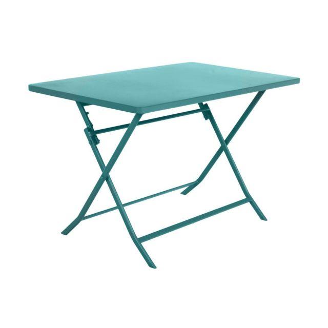 HESPERIDE Table de jardin Hespéride rectangle Greensboro 110 x 70 cm Emeraude
