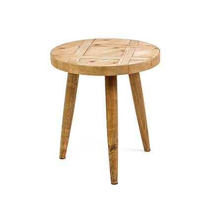 Table d'appoint en bois naturel 40x40x45cm