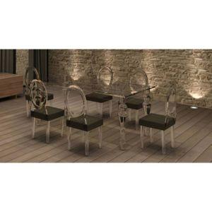 mobilier nitro table baroque transparente clara pas. Black Bedroom Furniture Sets. Home Design Ideas