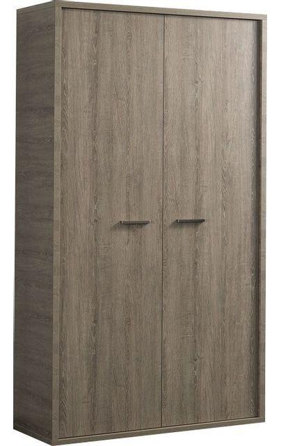 Comforium Armoire contemporaine à 2 portes battantes 104 cm pour enfant ou ado coloris chêne gris