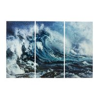 Karedesign - Tableaux en verre Triptychon Wave 160x240cm set de 3 Kare Design