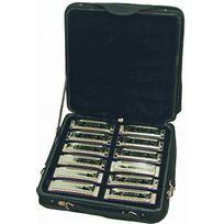 Johnson - Set de 12 Harmonicas en valise