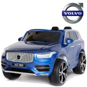 volvo 4x4 lectrique voiture b b enfant 2 places xc90 en 12v bleu peinte pas cher achat. Black Bedroom Furniture Sets. Home Design Ideas