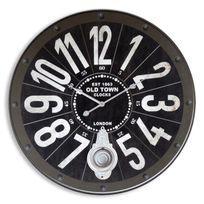 Orium - Pendule murale Industry diametre 60cm noir