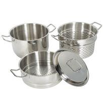 Artmetal - Set 4 pièces cuit pâtes vapeur en inox Artmétal