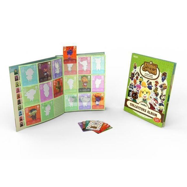 Nintendo Album Cartes Animal Crossing Happy Home Designer + Paquet de 3 cartes - 1 spéciale + 2 normales