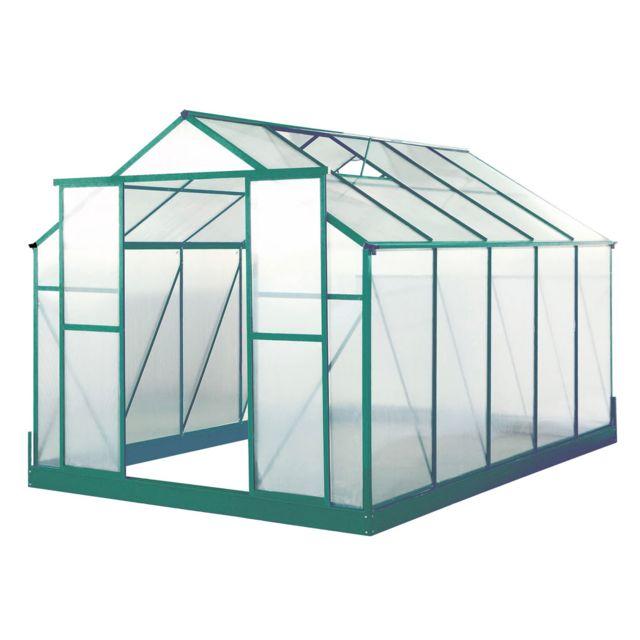 LAMS - Serre de jardin polycarbonate Orchidée - 8,93 m² ...