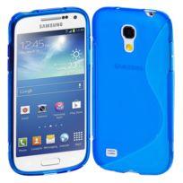 Vcomp - Housse Etui Coque souple silicone gel motif S-line pour Samsung Galaxy S4 mini i9190/ S4 mini plus I9195I/ i9192/ i9195/ i9197 - Bleu