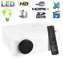 Yonis - Vidéoprojecteur Full Hd 1080P Led 3000 lumens Tv 3D Hdmi 120W Blanc