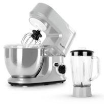 KLARSTEIN - Carina Argentea Set robot de cuisine 800W + carafe blender 1,5L