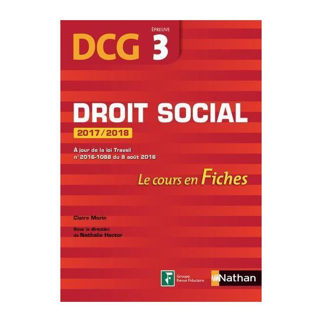 25dcada1b66 Nathan - droit social   épreuve 3   Dcg   le cours en fiches édition ...