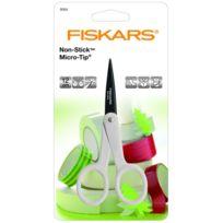 Fiskars - Ciseaux anti adhésif micro-tip ambidextre 12 cm