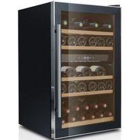 Caviss - Cave à vin de service - 2 temp 40 bouteilles - Noir Aci-cvs116 - Pose libre