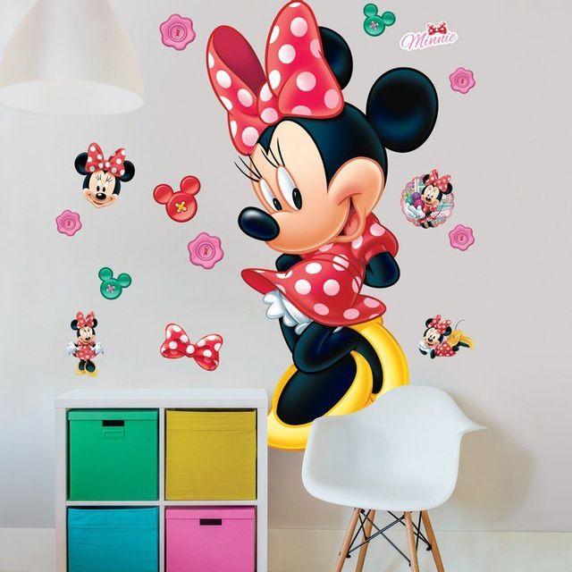 c7404bc730d11 COMFORIUM - Kit Autocollants amovibles Disney Minnie Mouse pour chambre