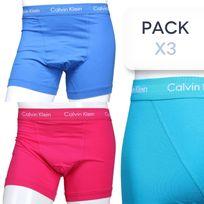 Calvin Klein - Calecon Pack X3 U2662g - 3 Trunk Ejg - Fushia/turq/bleu