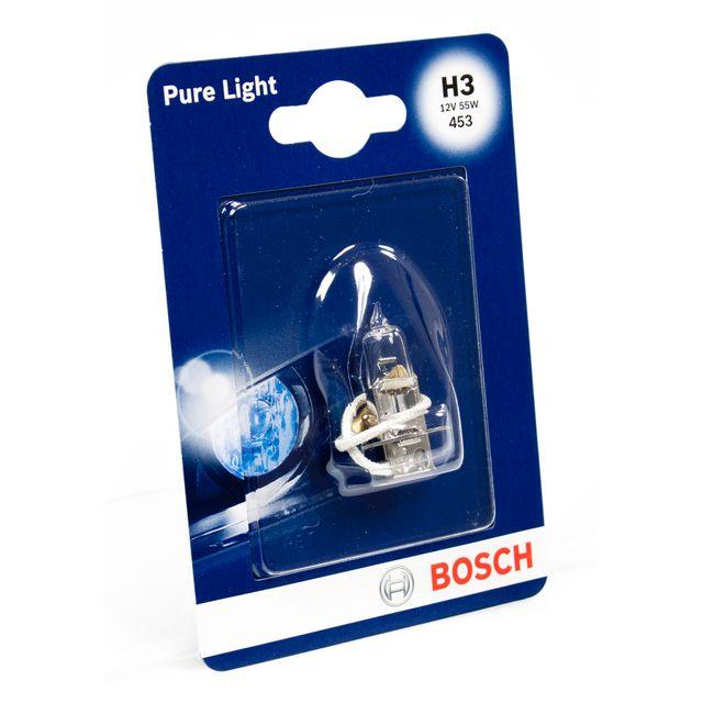 bosch pure light 1 h3 12v 55w pas cher achat vente ampoule auto rueducommerce. Black Bedroom Furniture Sets. Home Design Ideas