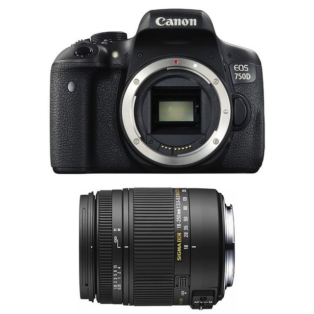 Canon Eos 750D + Sigma 18-250mm F3.5-6.3 Dc Macro Os Garanti 3 ans