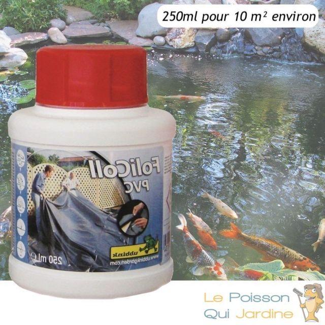 Le Poisson Qui Jardine Colle Pvc 250 ml pour bàches d'étangs et de bassin de jardin