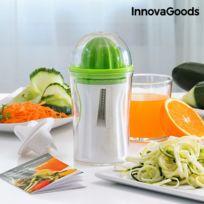 Fitxslim - Coupe-Légumes et Presse-Agrumes 4 en 1 avec Livre de Recette InnovaGoods