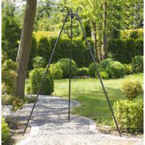 Cook - Maison De La Tendance - Le trépied Viking en fer forgé noir H: 180cm