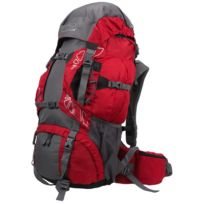Highlander - Sac à dos randonnée Discovery 65 chili grey Rouge 41406