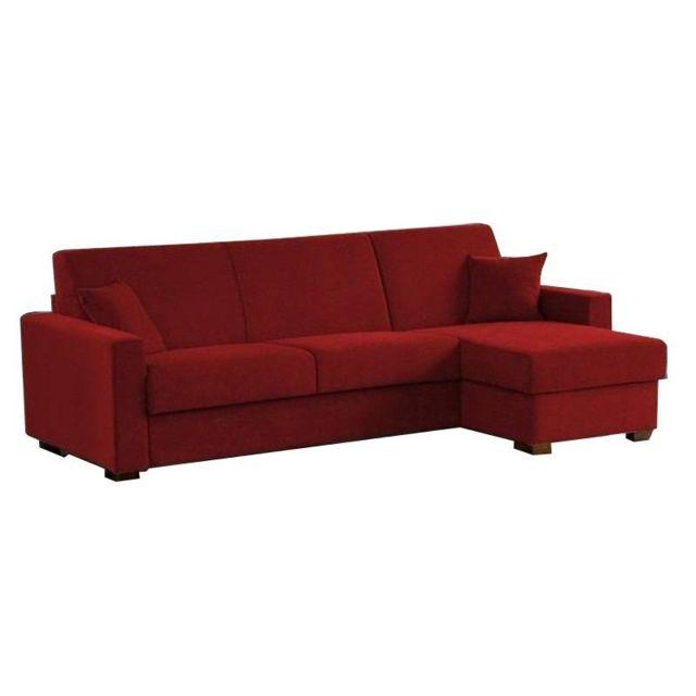 inside 75 canap d 39 angle ouverture rapido 140cm dreamer microfibre bordeaux matelas 14 cm. Black Bedroom Furniture Sets. Home Design Ideas