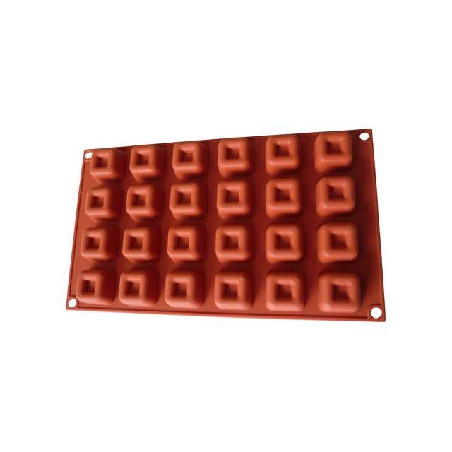Guery Moule silicone savarin carré 24 empreintes