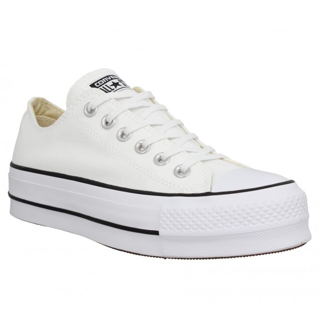 848b0625789 Converse - Chuck Taylor All Star Lift toile Femme-35-Blanc - pas cher Achat    Vente Baskets femme - RueDuCommerce