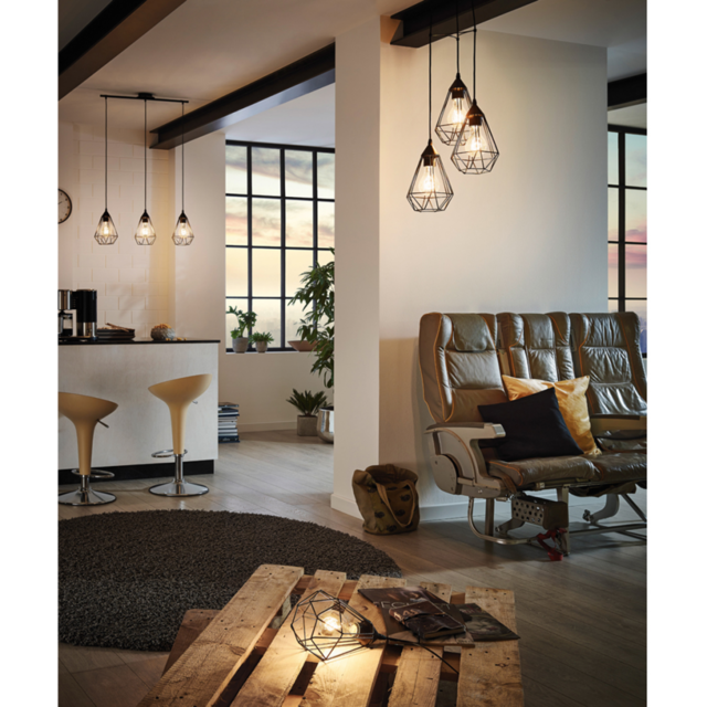 Eglo - Lampe de table couleur noire Tarbes