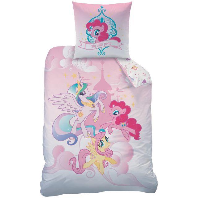 My Little Pony Housse de couette et taie d'oreiller 140x200 cm Royally 100% Coton