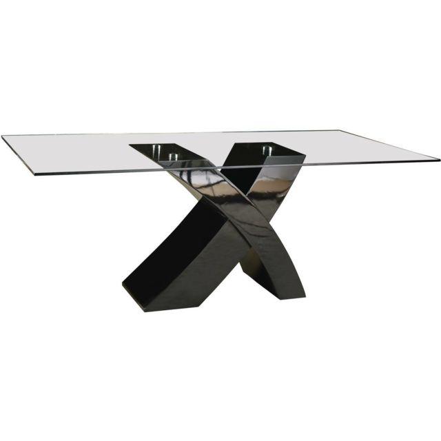 x x Noir 90 repas Mona cm 200 74 Table OXn0P8kw