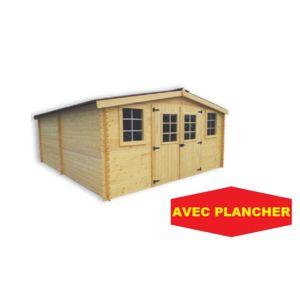 Bouvara abri de jardin en bois bandol 4x5 m avec - Abri de jardin avec plancher pas cher ...
