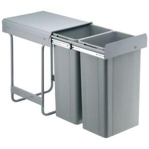 Wesco poubelle coulissante grande contenance 64 litres - Meuble pour poubelle ...