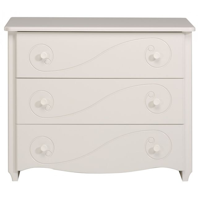 Altobuy Princesse - Commode 3 Tiroirs