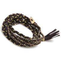 Nakamol - Promo Bracelet Cbx3554-BNC-GD - Bracelet Cuir Marron Femme