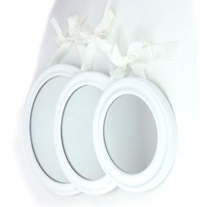 Atmosphera miroir a suspendre lot de 2 blanc pas for Miroir a suspendre
