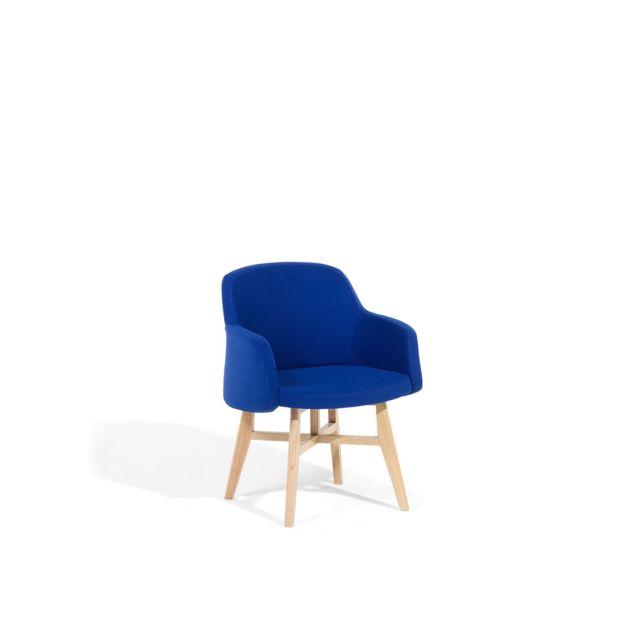BELIANI Fauteuil en tissu bleu foncé YSTAD - bleu foncé