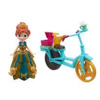 Hasbro - Figurine La Reine des Neiges Frozen, : Anna et son vélo