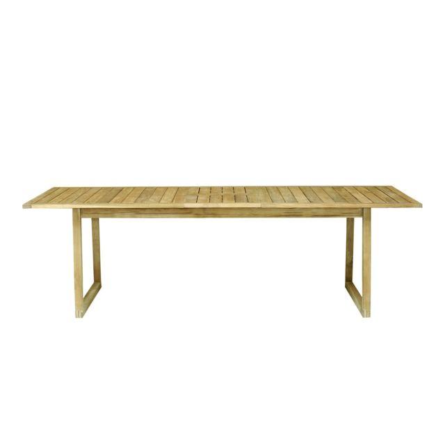Alinéa - Mia Table de jardin extensible en teck massif 10 places ...